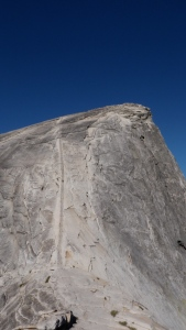 The epic Half Dome in Yosemite. Kyle made it to the top!